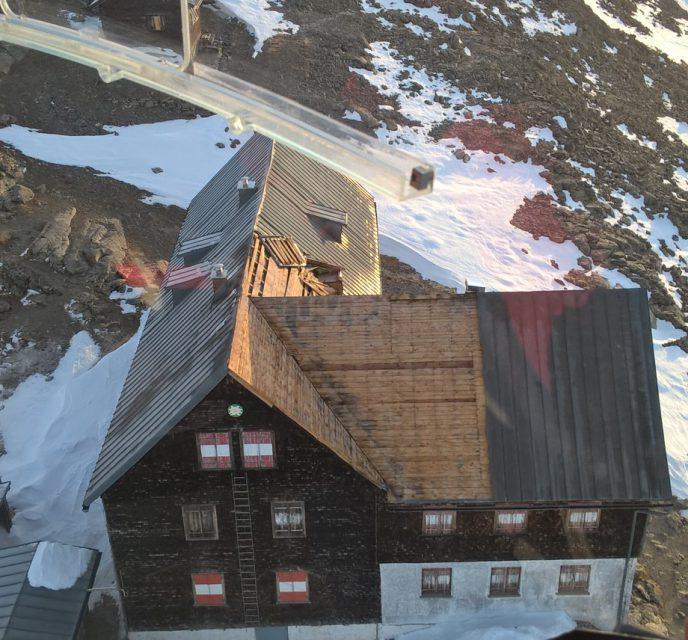 Mannheimer Hütte beschädigt