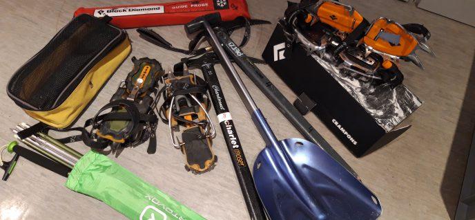 Ausleihe von Material für Ski- und Hochtouren